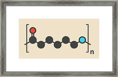 Polycaprolactam Polymer Molecule Framed Print