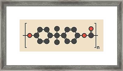 Polycarbonate Plastic Polymer Molecule Framed Print