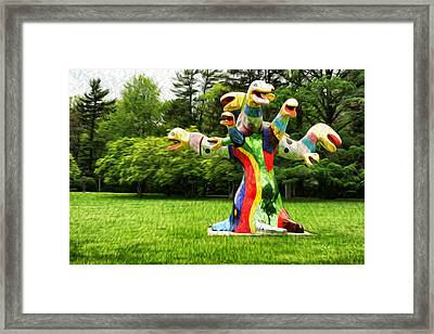 Polycephaly Dragon Framed Print