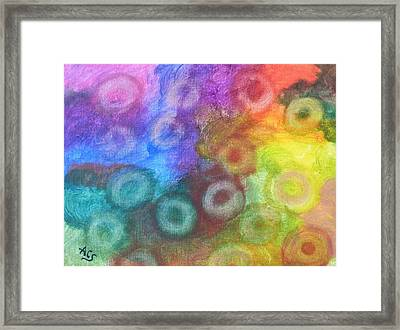 Polychromatic Rbc's Framed Print