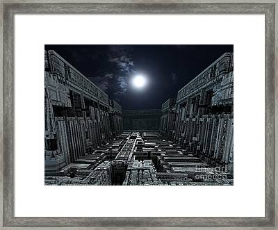 Polychrony Moonlight Framed Print by Bernard MICHEL