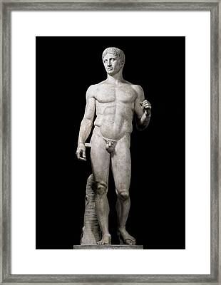 Polyclitus 5th C. Bc. Doryphoros. 440 - Framed Print