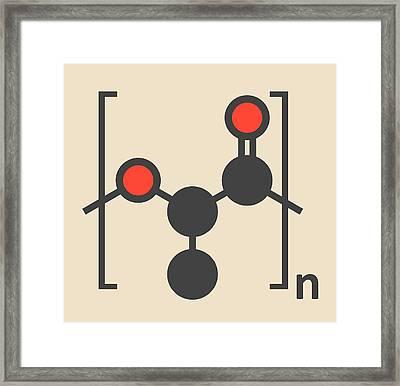 Polylactic Acid Polymer Molecule Framed Print