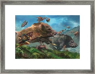Polymorphous Rush Framed Print by Ryan Barger