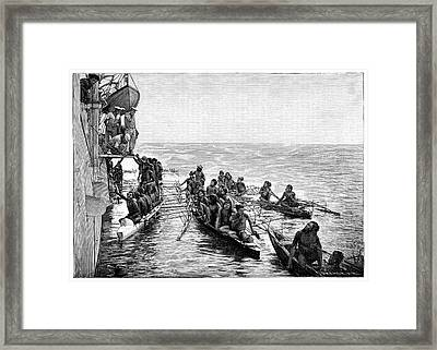 Polynesian Canoes Framed Print by Science Photo Library