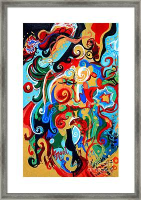 Polynomial Name God Phase I Framed Print by Genevieve Esson