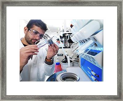 Polypeptide Synthesis Laboratory Framed Print