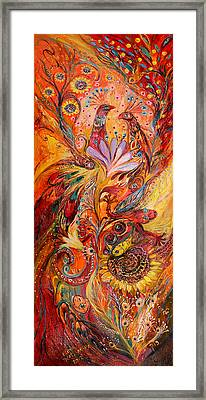 Polyptich Part IIi - Fire Framed Print by Elena Kotliarker
