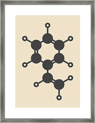 Polystyrene Building Block Molecule Framed Print by Molekuul
