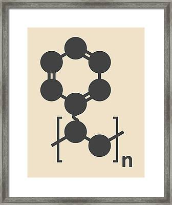 Polystyrene Plastic Polymer Molecule Framed Print