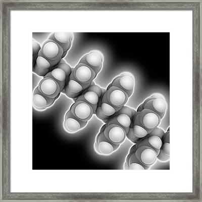 Polystyrene Polymer Chain Framed Print