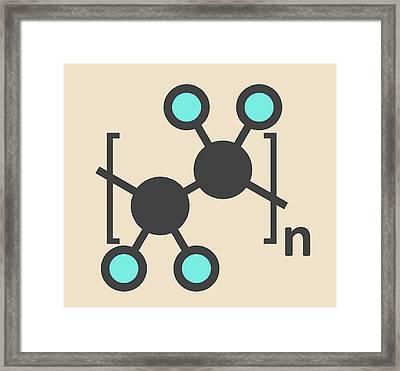 Polytetrafluoroethylene Polymer Molecule Framed Print