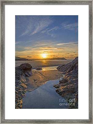 Polzeath Sunset Framed Print