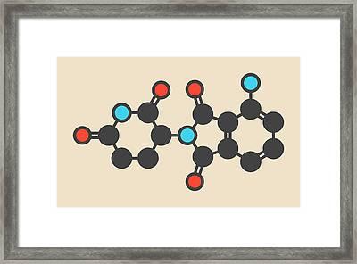 Pomalidomide Molecule Framed Print by Molekuul