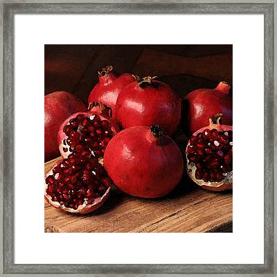 Pomegranate Framed Print by Cole Black