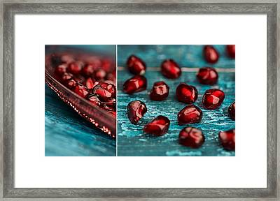 Pomegranate Collage Framed Print by Nailia Schwarz