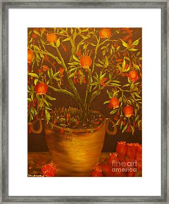 Pomegranate Tree Of Love-original Sold- Buy Giclee Print Nr 28 Of Limited Edition Of 40 Prints   Framed Print