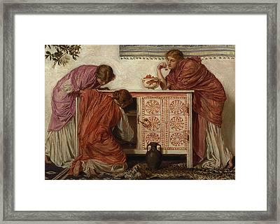 Pomegranates, 1866 Oil On Canvas Framed Print by Albert Joseph Moore