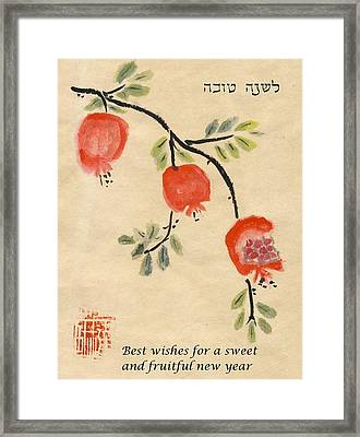 Pomegranates For Rosh Hashanah Framed Print