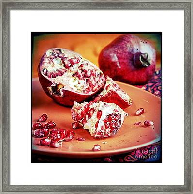 Pomegranates Framed Print by HD Connelly