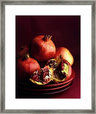 Pomegranates Framed Print by Romulo Yanes