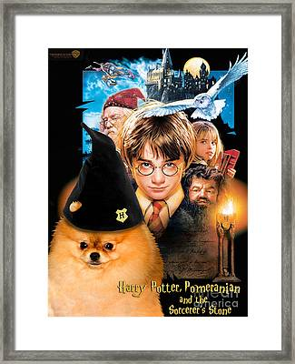 Pomeranian Art Canvas Print - Harry Potter Movie Poster Framed Print