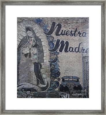 Pomona Art Walk - Nuestra Madre Framed Print by Gregory Dyer