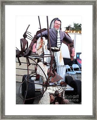 Pomona Art Walk - Metal Man Framed Print