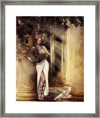 Pomona Goddess Of Bountiful Harvest Framed Print by Shanina Conway