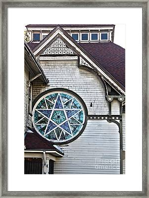 Pomona Seventh Day Adventist Church Stained Glass Framed Print