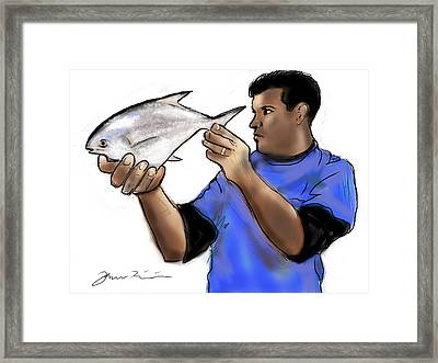 Pompano Catch Of The Day Framed Print