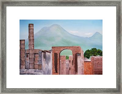 Pompeii And Vesuvius   Framed Print