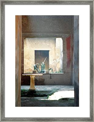 Pompeii Courtyard Framed Print by Marna Edwards Flavell