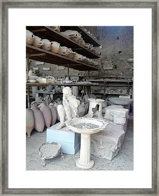 Pompeii Ruins IIi Framed Print by Shesh Tantry