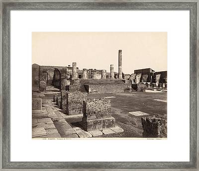 Pompeii Temple Of Jove Framed Print