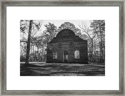 Pon Pon Chapel Of Ease 2 Bw Framed Print by Steven  Taylor