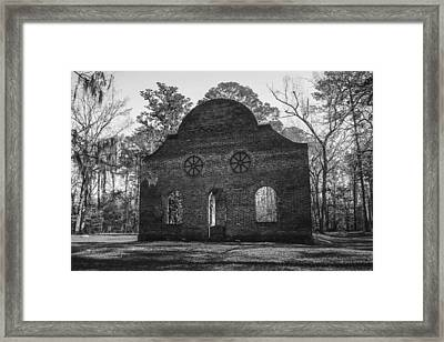 Pon Pon Chapel Of Ease 4 Bw Framed Print by Steven  Taylor