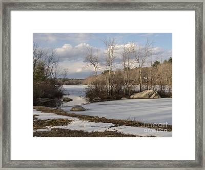 Ponaganset In Winter Framed Print