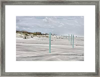 Ponce Beach Framed Print by Deborah Benoit