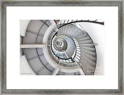Framed Print featuring the photograph Ponce De Leon Inlet Lighthouse Staircase by Todd Blanchard