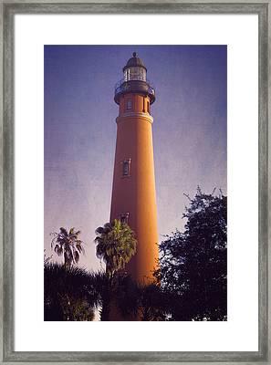Ponce De Leon Lighthouse Framed Print by Joan Carroll