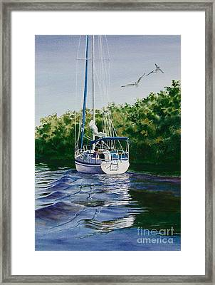 Framed Print featuring the painting Ponce De Leon Passage by Karol Wyckoff