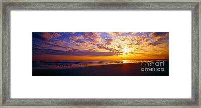 Ponce Inlet Fl Sunrise  Framed Print by Tom Jelen
