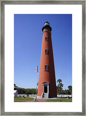 Framed Print featuring the photograph Ponce Inlet Lighthouse by Laurie Perry