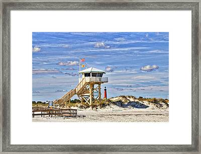 Ponce Inlet Scenic Framed Print by Alice Gipson