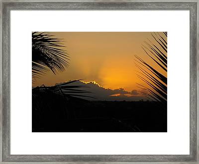 Ponce Sunrise Framed Print by Daniel Sheldon