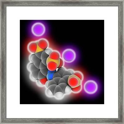 Ponceau 4r Molecule Framed Print by Laguna Design