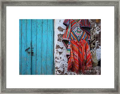 Ponchos For Sale Framed Print by James Brunker