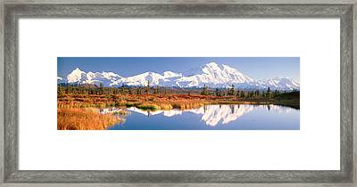 Pond, Alaska Range, Denali National Framed Print