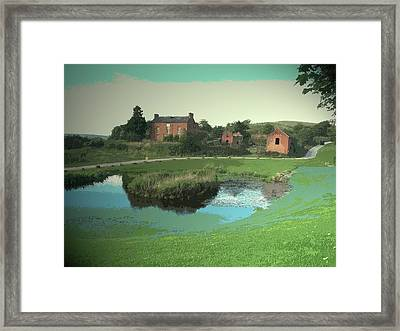 Pond And Derelict Dwelling On The, A Slightly Incongruous Framed Print